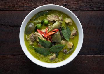 Curry vert poulet, Tom Yam, papaye verte