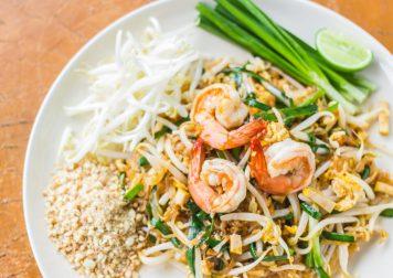 Curry Vert, Rouleaux Crevettes, Phat Thaï