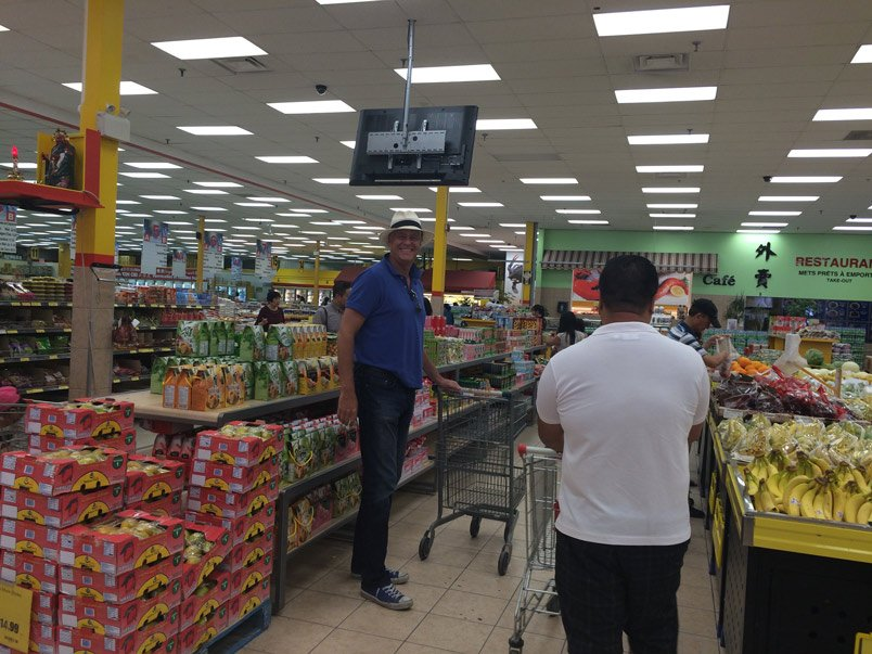 Intérieur de l'épicerie asiatique Marché Hawai