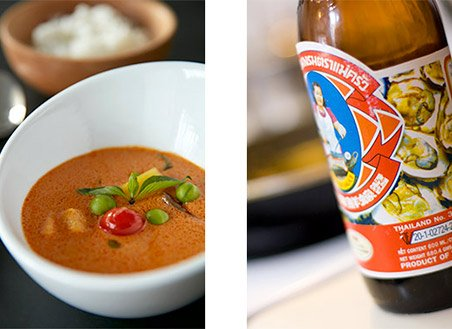 Thai beer and soup