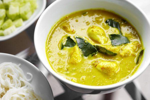 Recette curry jaune Thaï aux crevettes