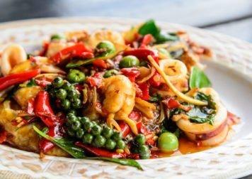 Curry Massaman, Phat Kapow, Fruits de mer