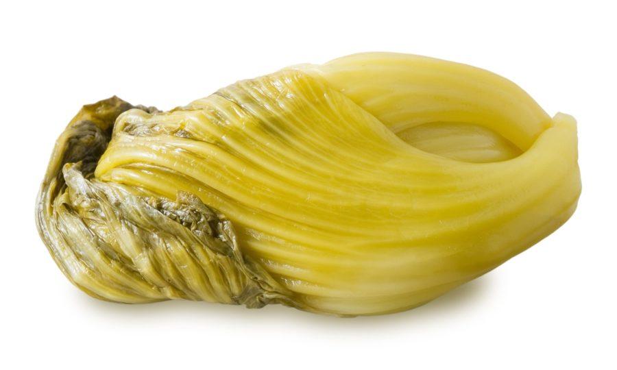 Feuilles de moutardes marinées
